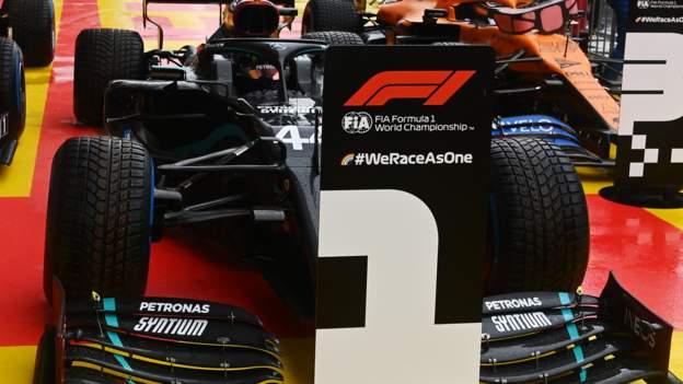 Lewis Hamilton en su mejor momento para la pole GP de Estiria